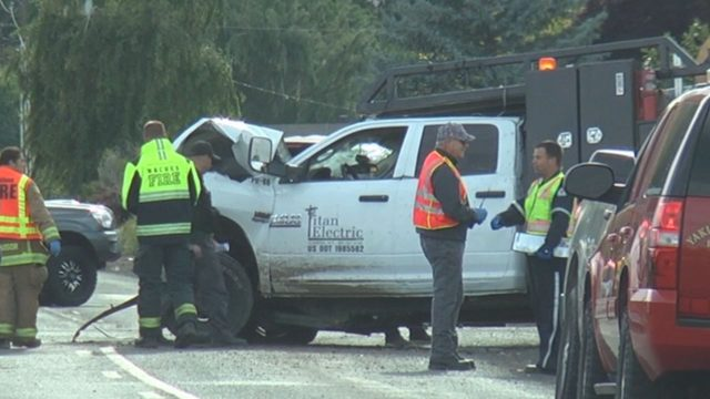 One person dead following two-vehicle crash in Yakima County
