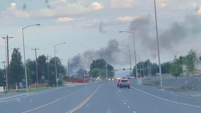 West Richland home catches fire Monday morning