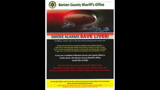 Benton Co. Sheriff hands out smoke detectors to mobile home parks