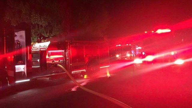 Shed fire forces road closure in Benton City
