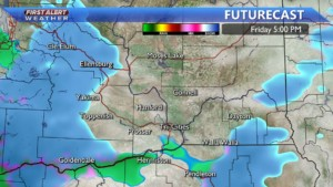 Snow flurries Friday