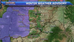 Winter Weather Advisory for the Yakima and Kittitas Valley