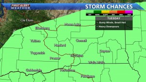 Storm Chances Tuesday