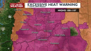 Excessive Heat Warning through Friday