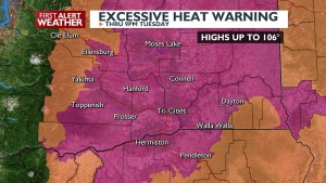 Excessive Heat Warning through Tuesday
