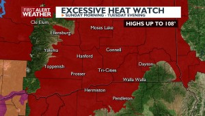 Excessive Heat Watch Sunday through Tuesday