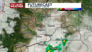 Storm Chance late Wednesday