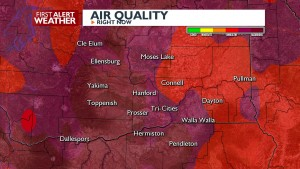 Air Quality unhealthy to hazardous