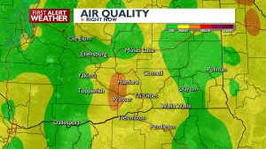 Poor Air Quality through early Friday