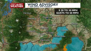 Wind Advisory Tuesday