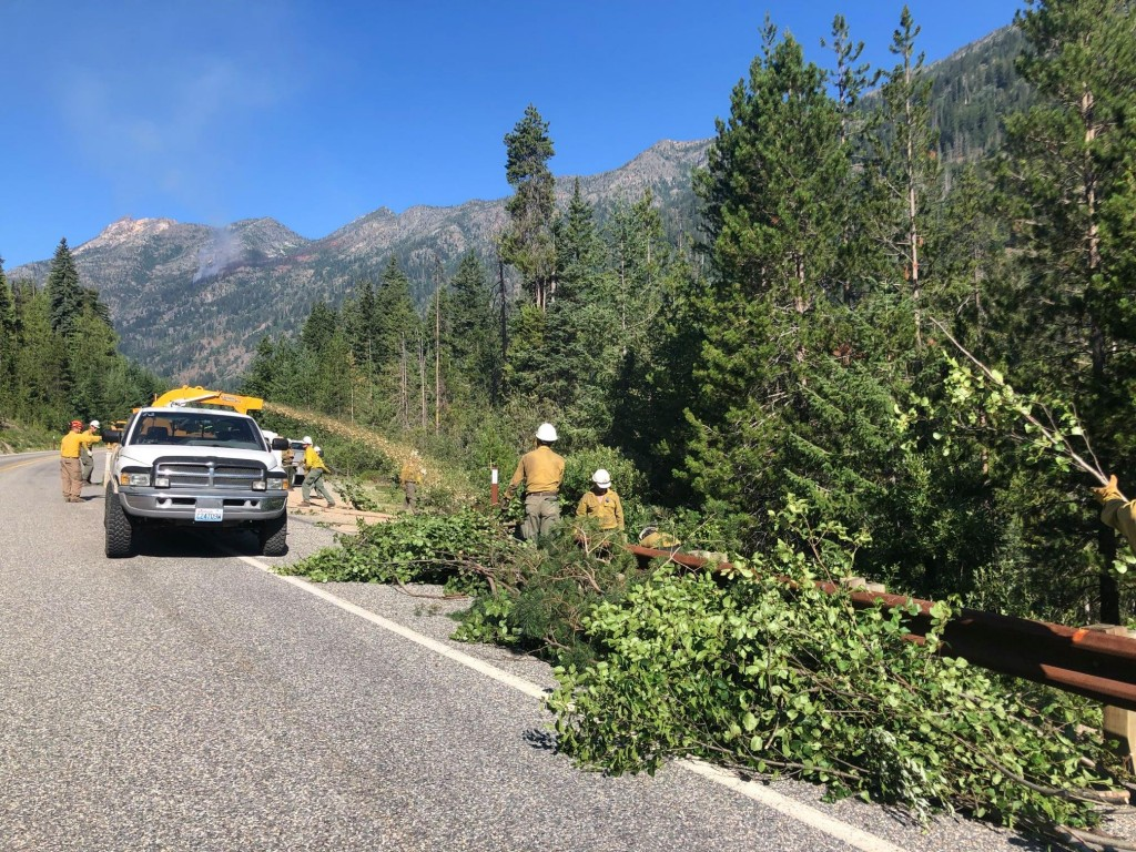Crews Are Brushing And Chipping Along State Route 20 To Deepen A Containment Line Along The Northern Portion Of The Cedar Creek Fire